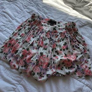 Pants - floral flowy skort